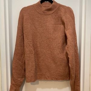 Leith, Ribbed Mock Neck Sweater, Size Small